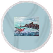 Coast Round Beach Towel by Roxy Rich