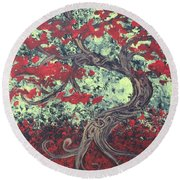 Little Red Tree Series 3 Round Beach Towel