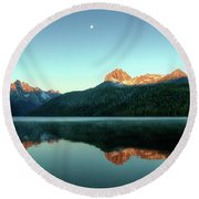 Little Redfish Lake Round Beach Towel