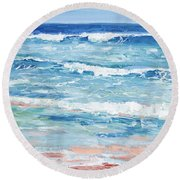 Little Riptides Round Beach Towel