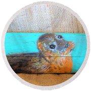 Little Seal Round Beach Towel by Ann Michelle Swadener