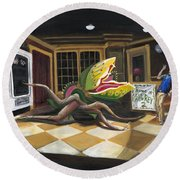 Little Shop Of Horrors Round Beach Towel