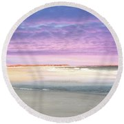 Round Beach Towel featuring the photograph Little Slice Of Heaven by Kathy Baccari