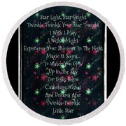 Little Star  Round Beach Towel
