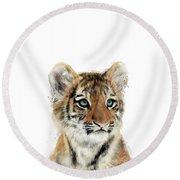 Little Tiger Round Beach Towel
