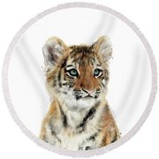 Little Tiger Round Beach Towel by Amy Hamilton