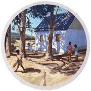 Little White House Karoo South Africa Round Beach Towel by Andrew Macara