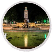 Round Beach Towel featuring the photograph Littlefield Gateway by David Morefield