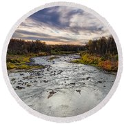Littlefork River Round Beach Towel