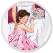 Littlest Wedding Belle Round Beach Towel