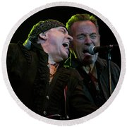 Round Beach Towel featuring the photograph Live At The Paramount by Jeff Ross