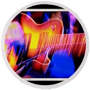 Round Beach Towel featuring the photograph Live Music by Chris Berry