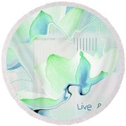 Round Beach Towel featuring the photograph Live N Love - Absf15 by Variance Collections