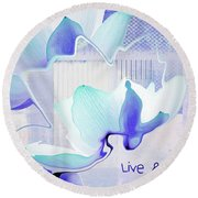 Round Beach Towel featuring the photograph Live N Love - Absf43 by Variance Collections