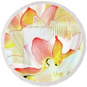 Round Beach Towel featuring the photograph Live N Love - Absf44b by Variance Collections