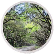 Live Oak Canopy Round Beach Towel
