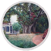 Live Oak Gardens Jefferson Island La Round Beach Towel