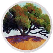 Live Oak Tree Round Beach Towel