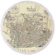 Liverpool England 1836 Round Beach Towel