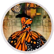 Round Beach Towel featuring the mixed media Living A Life With No Boundaries by Marvin Blaine