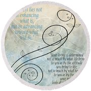 Round Beach Towel featuring the digital art Living by Angelina Vick