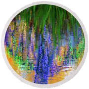 Living Color Reflection Round Beach Towel