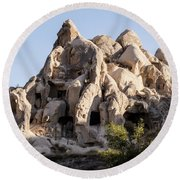 Living In Tufa Round Beach Towel by Kathy McClure