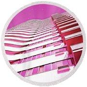 Living Pink Round Beach Towel