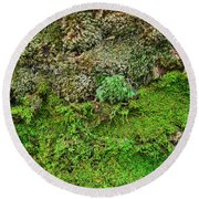 Living Wall Part Five Round Beach Towel