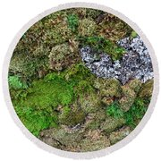 Living Wall Part One Round Beach Towel