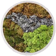 Living Wall Part Two Round Beach Towel