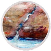 Living Water Round Beach Towel