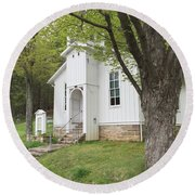 Livonia Chapel Round Beach Towel