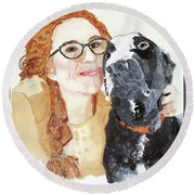 Livvy And Amos Round Beach Towel