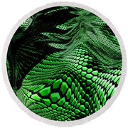 Dragon Skin Round Beach Towel