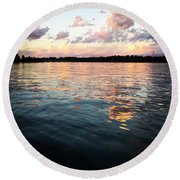 Lkn Water And Sky  I Round Beach Towel