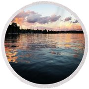Lkn Water And Sky II Round Beach Towel