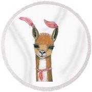 Llama Round Beach Towel
