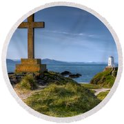 Llanddwyn Cross Round Beach Towel