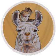 Llois The Llama Round Beach Towel