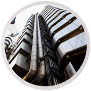 Lloyds Building London  Round Beach Towel