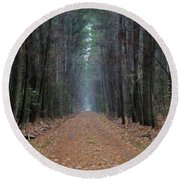 Round Beach Towel featuring the photograph Loblolly Lane by Robert Geary