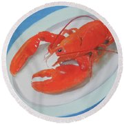 Lobsta Time Round Beach Towel