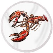 Lobster Round Beach Towel