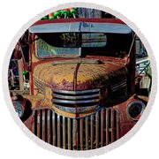 Lobster Pots And Chevys Round Beach Towel