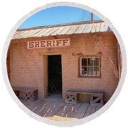 Local Sheriff Tucson Round Beach Towel