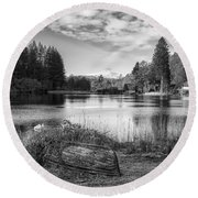 Loch Ard In Aberfoyle Round Beach Towel