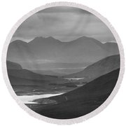 Loch Glascarnoch And An Teallach Round Beach Towel