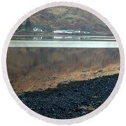 Loch Linnhe Reflection Round Beach Towel