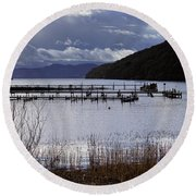Round Beach Towel featuring the photograph Loch Lomond by Jeremy Lavender Photography